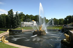 Fountains. Peterhof. Great cascade. Fountains Royalty Free Stock Photo
