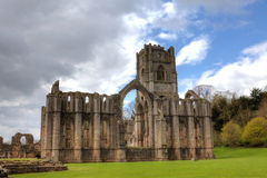 Fountains Abbey. World Heritage Site of Fountains Abbey in Yorkshire Dales, England Stock Photography