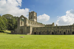 Fountains Abbey. Medieval  monastery North Yorkshire England Stock Photos