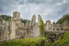 Fountains Abbey. Medieval  monastery North Yorkshire England Stock Photography