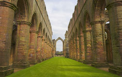Fountains Abbey. Ruins of Fountains Abbey in Ripon, Yorkshire, England Stock Image