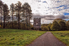 Fountains Abbey. Beautiful landscape Fountains Abbey in October royalty free stock photos