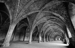 Fountains Abbey Cellarium. Inside the Fountains Abbey Cellarium Royalty Free Stock Photography