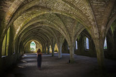 Fountains Abbey  Cellarium ghost Royalty Free Stock Photos