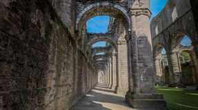 Fountains Abbey Corridor Royalty Free Stock Photo