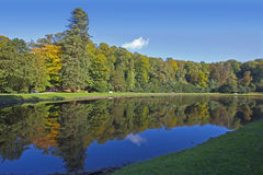 Fountains Abbey Lake View Royalty Free Stock Photo