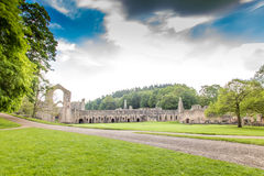 Fountains Abbey North Yorkshire Stock Photography