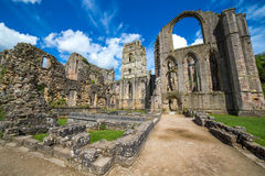 Fountains Abbey North Yorkshire. Fountains Abbey Ripon in North Yorkshire Royalty Free Stock Image