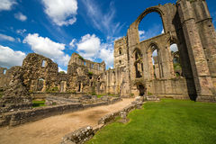 Fountains Abbey North Yorkshire. Fountains Abbey Ripon in North Yorkshire Stock Photo