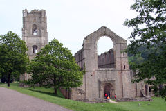 The Fountains Abbey in Northern Yorkshire. Great Britain Royalty Free Stock Photography