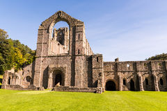 Fountains Abbey Ruins in England stock image