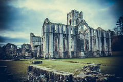 Fountains Abbey Ruins, Ripon UK Royalty Free Stock Photography