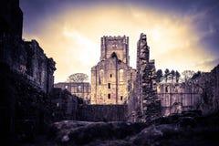 Fountains Abbey Ruins, Ripon UK stock photos
