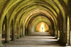 Fountains Abbey. In Yorkshire, England Stock Photos