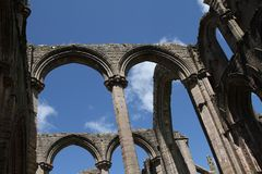 Fountains Abbey. In Yorkshire, England Stock Photo