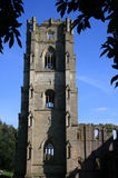Fountains Abbey Yorkshire England. Fountains Abbey was founded in 1132 following a dispute and riot at St. Mary's Abbey in York Stock Photo