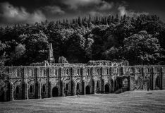 Fountains Abbey in yorkshire, England Stock Images