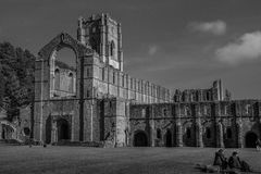 Fountains Abbey in yorkshire, England Royalty Free Stock Image