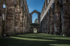Fountains Abbey in yorkshire, England. UK Stock Image