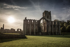 Fountains Abbey in yorkshire, England Royalty Free Stock Photo