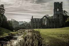 Fountains Abbey in yorkshire, England. UK Stock Photos