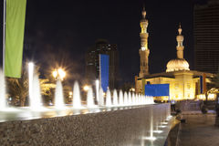 Fountains at Al Madzhaz. Sharjah. UAE. Royalty Free Stock Image