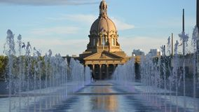 Fountains At Alberta Government stock footage