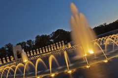 Fountains at an Angle--World War II Memorial Stock Images