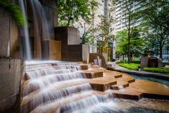 Free Fountains At Thomas Polk Park, In Uptown Charlotte, North Caroli Royalty Free Stock Photography - 82817537