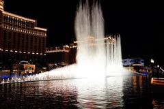 The Fountains Of Bellagio 36. Bellagio is a resort, luxury hotel and casino on the Las Vegas Strip in Paradise, Nevada. It is owned and operated by MGM Resorts stock photo