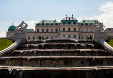 Fountains of Belvedere Palace Royalty Free Stock Photography