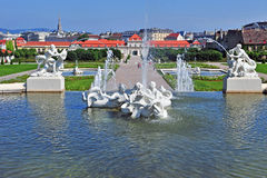 Fountains of Belvedere Royalty Free Stock Photography