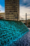 Fountains and building at Woodruff Park in downtown Atlanta, Geo Royalty Free Stock Photography