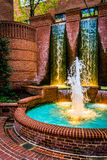 Fountains in downtown Lancaster, Pennsylvania. Stock Photo