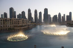 Fountains at Dubai Mall Royalty Free Stock Photography