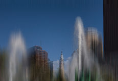 Fountains Ensconce Philadelphia City Hall Royalty Free Stock Photos