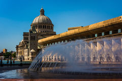 Fountains and the First Church of Christ, Scientist at Christian Royalty Free Stock Photography
