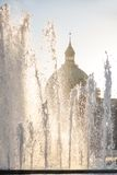 Fountains in front of Amalienborg Palace Royalty Free Stock Image