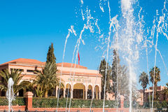 Fountains in front of Palace Congress in Ouarzazate Morocco Stock Photo