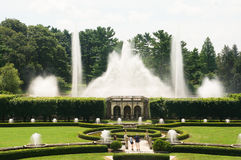 Fountains in the garden Royalty Free Stock Images