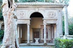 Fountains and  garden of villa lante Royalty Free Stock Photos