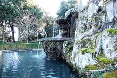 Fountains and  garden of villa lante Royalty Free Stock Images