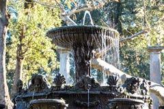 Fountains and  garden of villa lante Stock Photo