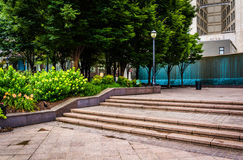 Fountains and garden at Woodruff Park in downtown Atlanta, Georg Stock Image