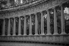 Fountains and gardens of the royal jardin del retiro in madrid, Royalty Free Stock Images