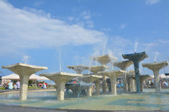 Fountains in Gdynia Stock Photo