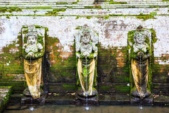 Fountains at Goa Gajah Temple,Bali, Indonesia Stock Photos