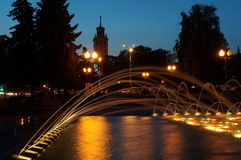 Fountains in Gomel (Belarus) Stock Photography