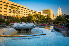 Fountains at Grand Park, in downtown Los Angeles  Royalty Free Stock Image