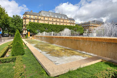 Fountains ant Hotel de Ville in Paris, France. Royalty Free Stock Photography